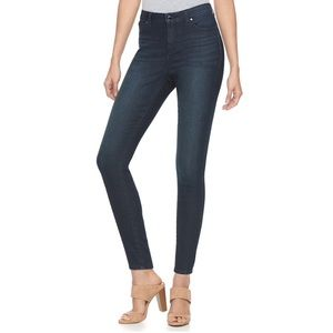 Jennifer Lopez Dark Blue High Rise Skinny Jeans